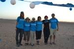 At the finish of the 2010 Sahara Trek with Russ Malkin and the UNICEF team