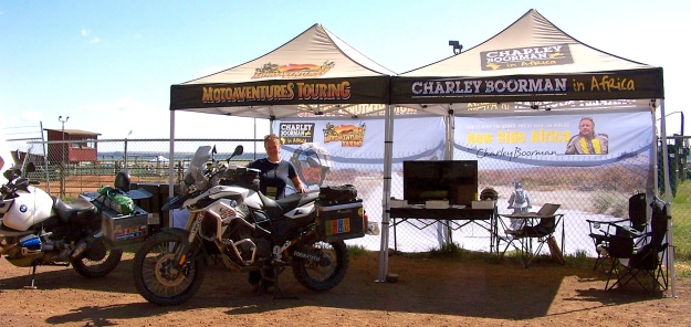 Manning the Charley Boorman stand