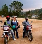 First boda boda ride from Kigali, Rwanda