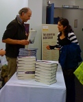 Sir Ranulph Fiennes delights a punter at his book-signing