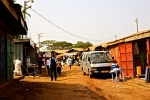A backstreet in a Greater Accra suburb, Ghana