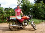 Getting to grips with a Ugandan boda boda!