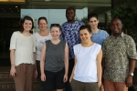 With the Comic Relief crew in Ghana